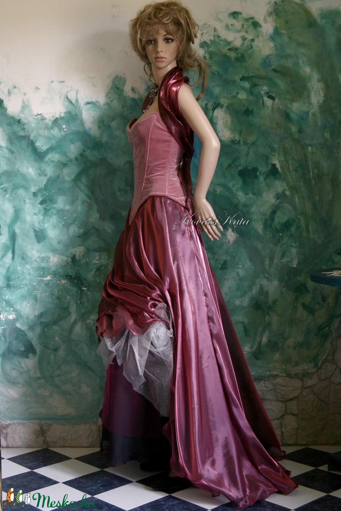 MAGNÓLIA - romantikus exkluzív báli-ruha, alternatív menyasszonyi ruha - ruha & divat - női ruha - alkalmi ruha & estélyi ruha - Meska.hu