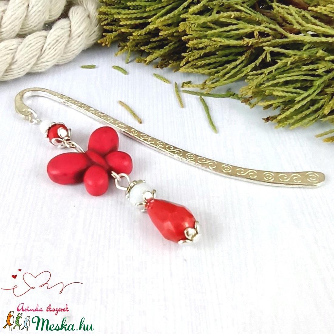 Piros howlit pillangó könyvjelző anyák napja ballagás évzáró pedagógus karácsony szülinap névnap ajándék könyvmoly - otthon & lakás - papír írószer - könyvjelző - Meska.hu