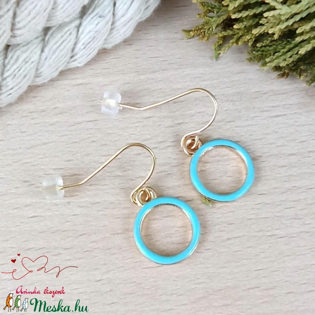 Kék karika fülbevaló karácsonyra mikulásra télire adventi kalendáriumba nőnek lánynak - ékszer - fülbevaló - lógó fülbevaló - Meska.hu