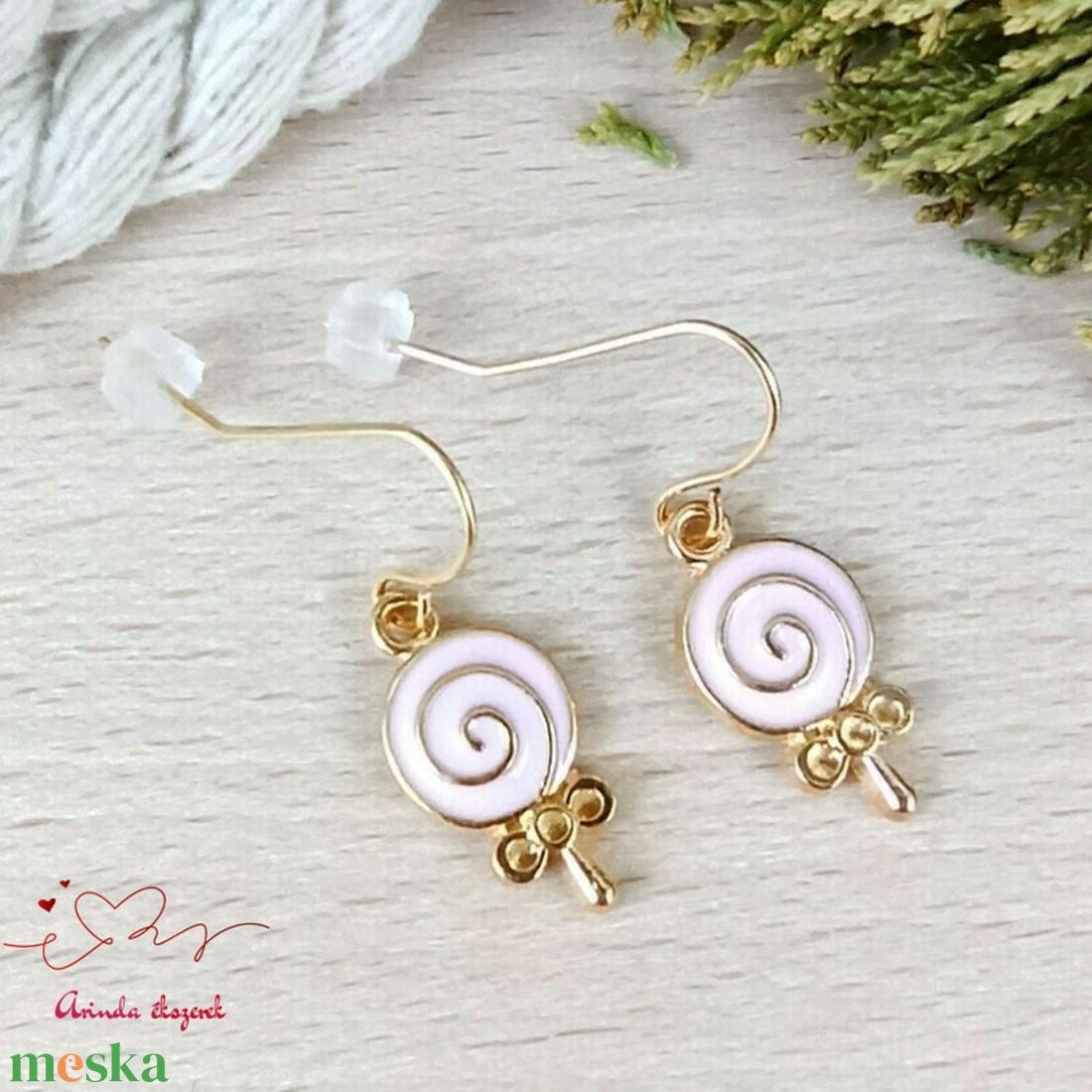 Nyalóka fülbevaló tavaszra nyárra nőnek lánynak - ékszer - fülbevaló - lógó fülbevaló - Meska.hu