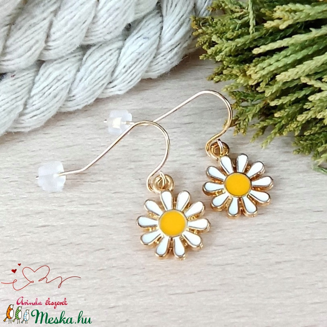 Virág fülbevaló tavaszra nyárra nőnek lánynak - ékszer - fülbevaló - lógó fülbevaló - Meska.hu