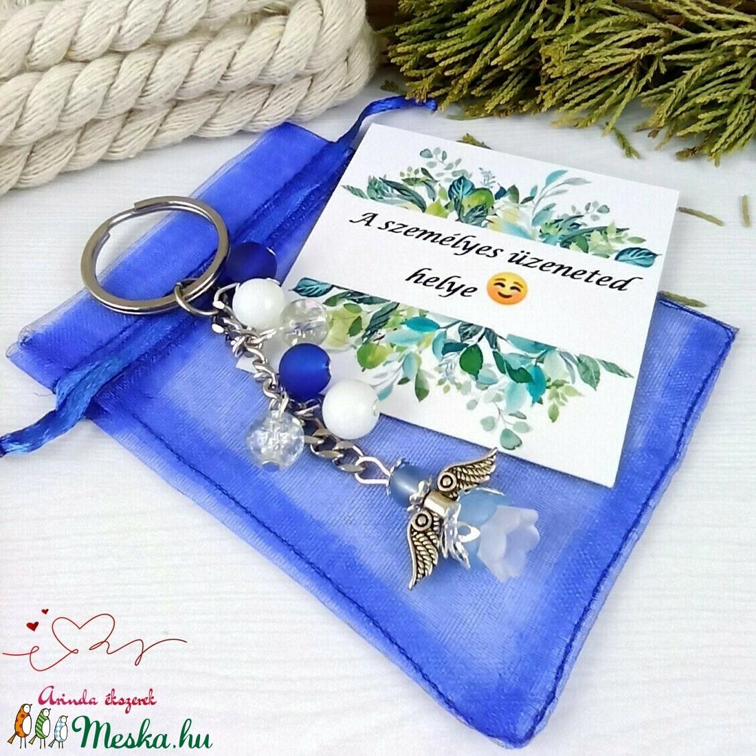 Nyugalom sötétkék angyal kulcstartó táskadísz anyák napja ballagás évzáró pedagógus karácsony szülinap névnap - táska & tok - kulcstartó & táskadísz - kulcstartó - Meska.hu