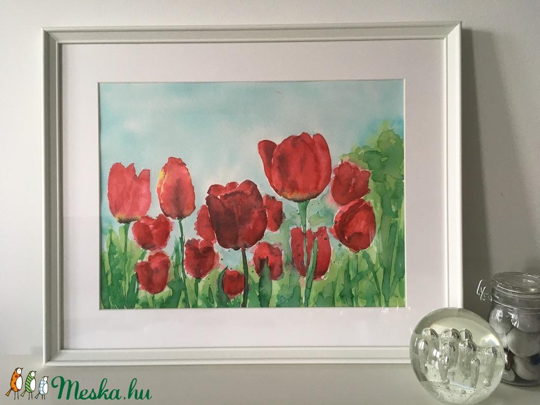 Piros tulipánok - Meska.hu