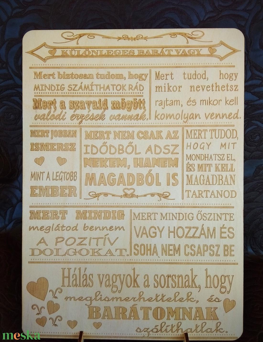 Különleges barát tábla (babetti0330) - Meska.hu