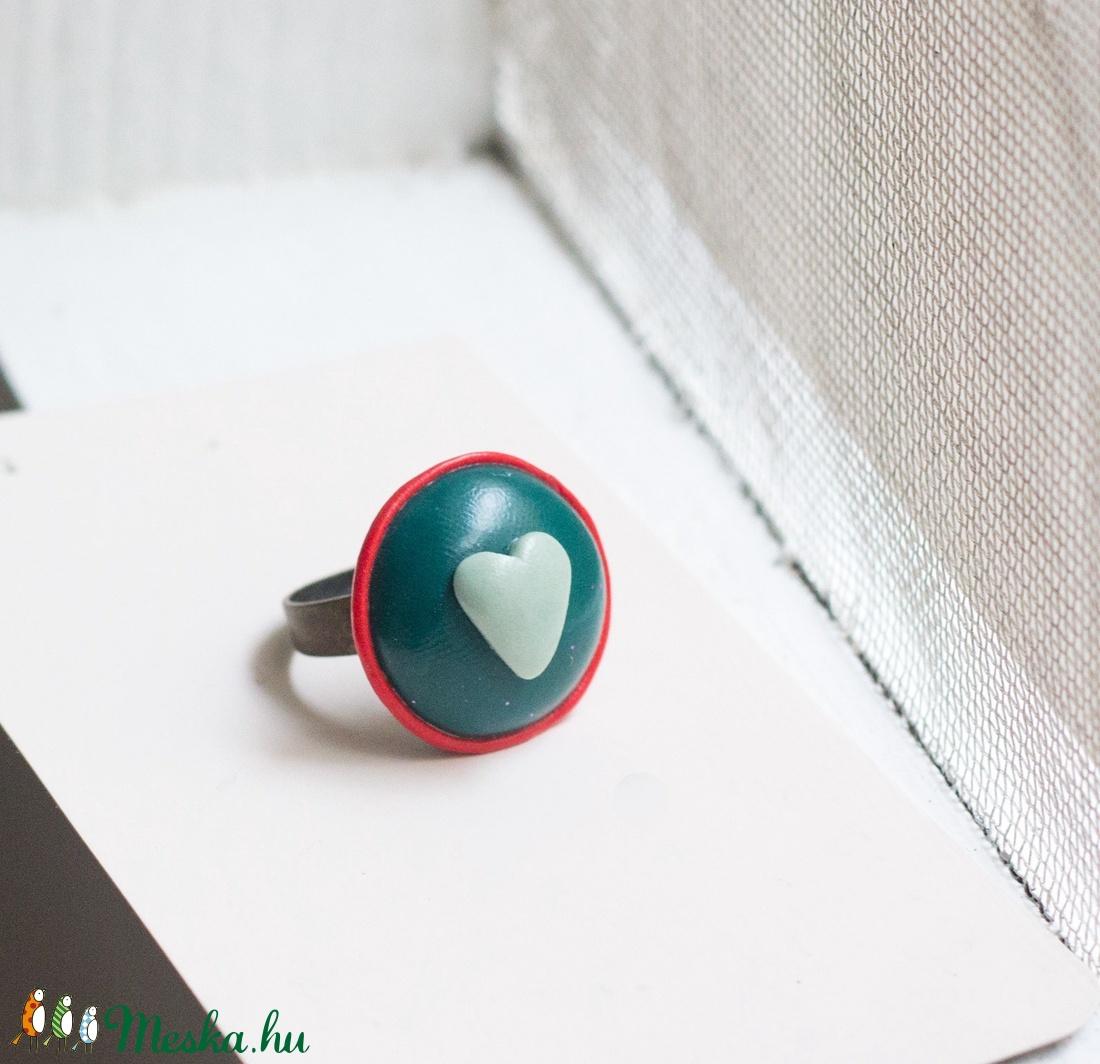 Piros, kék, és fehér - ékszer - gyűrű - gyöngyös gyűrű - Meska.hu