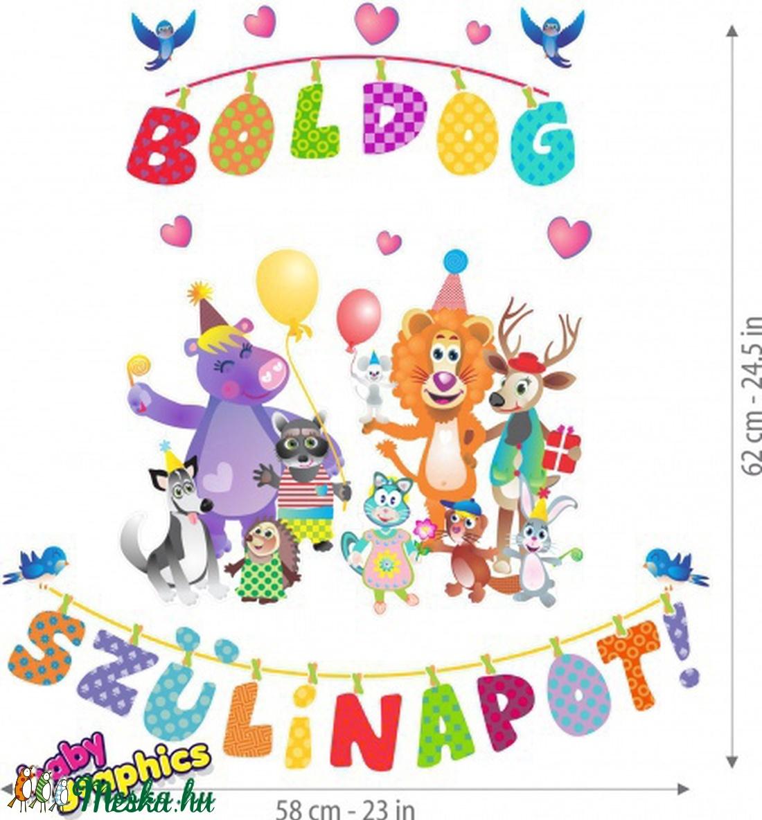 boldog szülinapot gyerekeknek Boldog szülinapot! áthelyezhető falmatrica szett (babygraphics  boldog szülinapot gyerekeknek