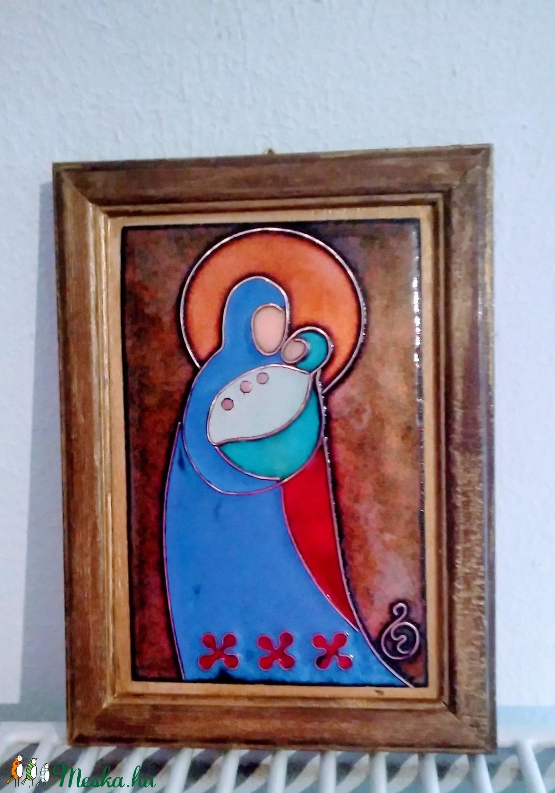 Tűzzománc kép Madonna (Bagika) - Meska.hu