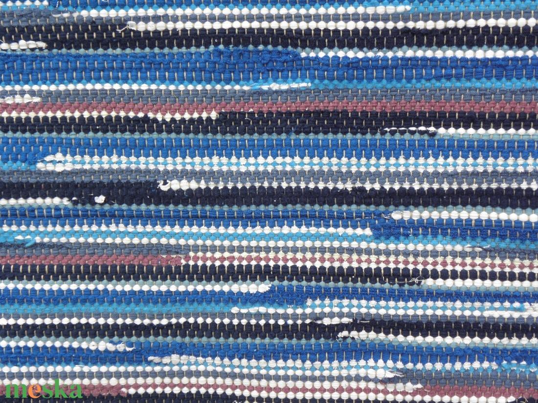 Kék-tarka szőnyeg - otthon & lakás - lakástextil - szőnyeg - Meska.hu