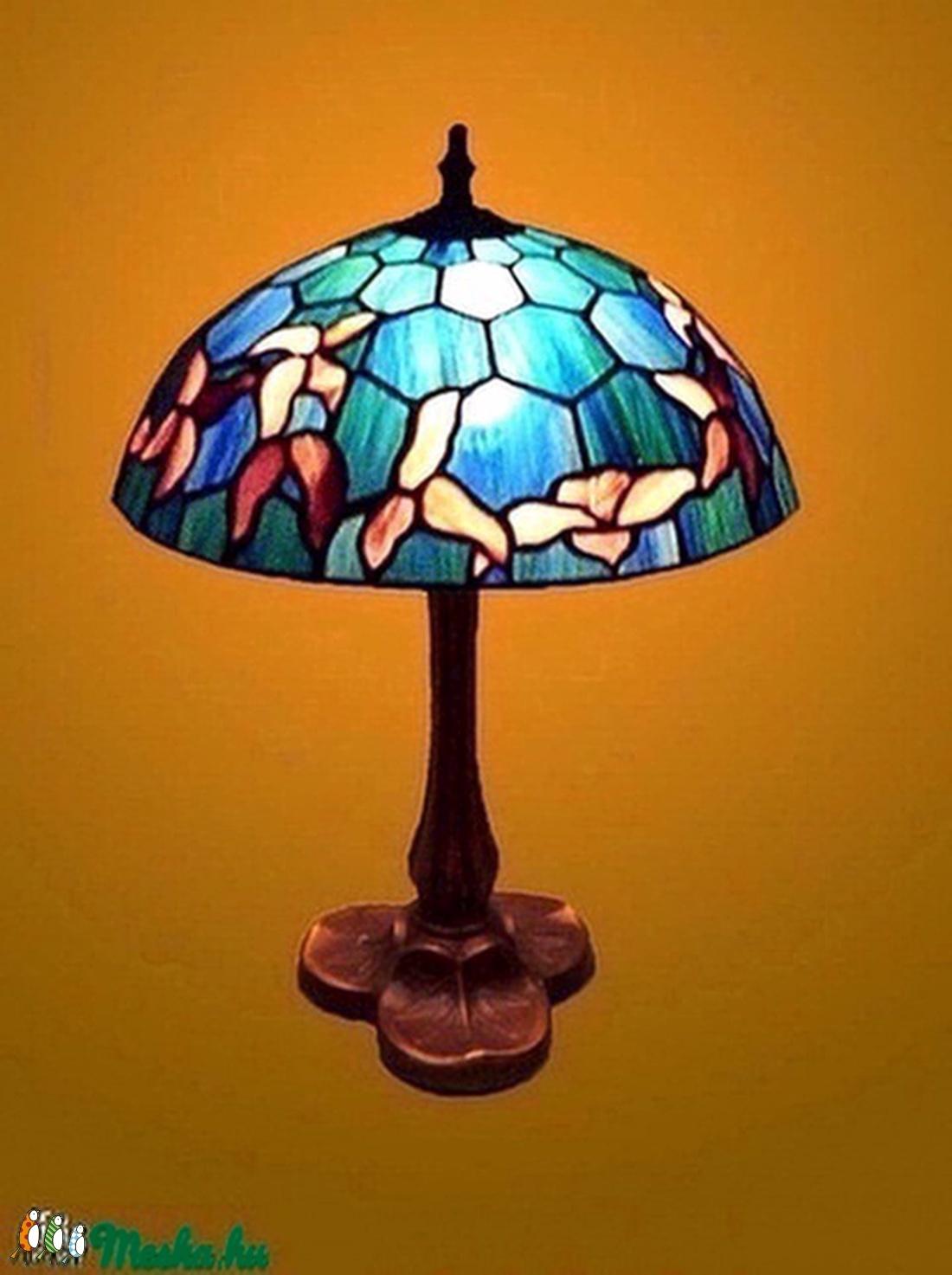 Tiffany lámpa, hatszögletű háttér mintával (beca1885) - Meska.hu