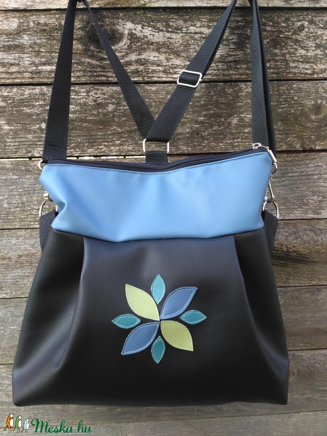 Tulipános kék 3in1 hátizsák (belinbolt) Meska.hu