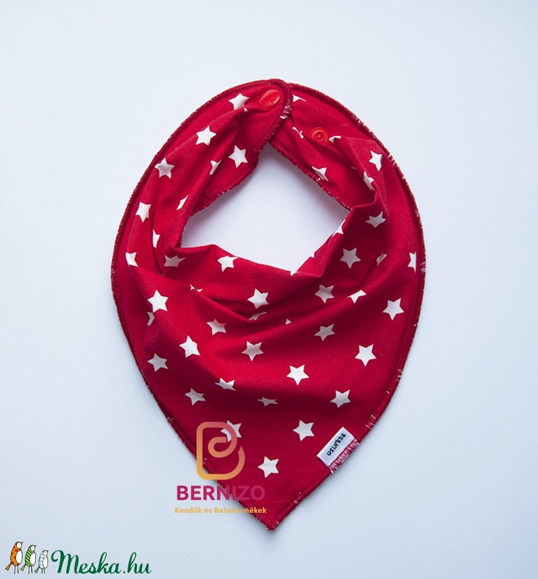 Piros csillagos nyálkendő/babakendő (Bernizo) - Meska.hu