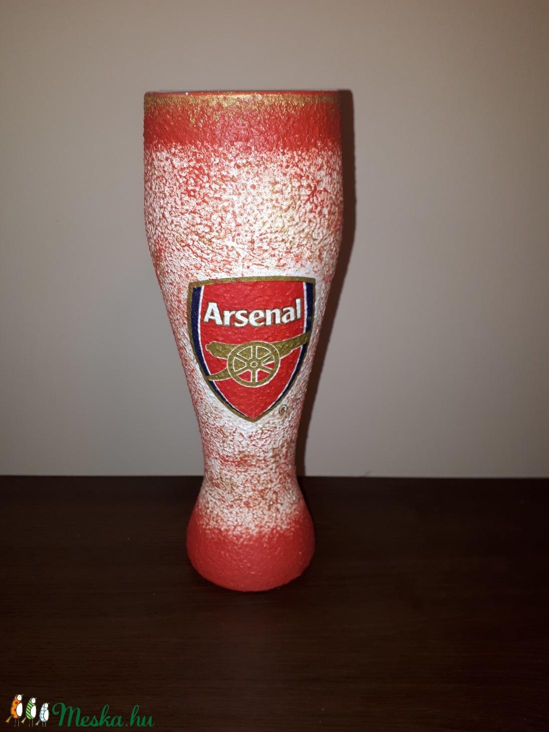 Arsenal foci rajongói sörös pohár 500 ml  - otthon & lakás - konyhafelszerelés - pohár - Meska.hu