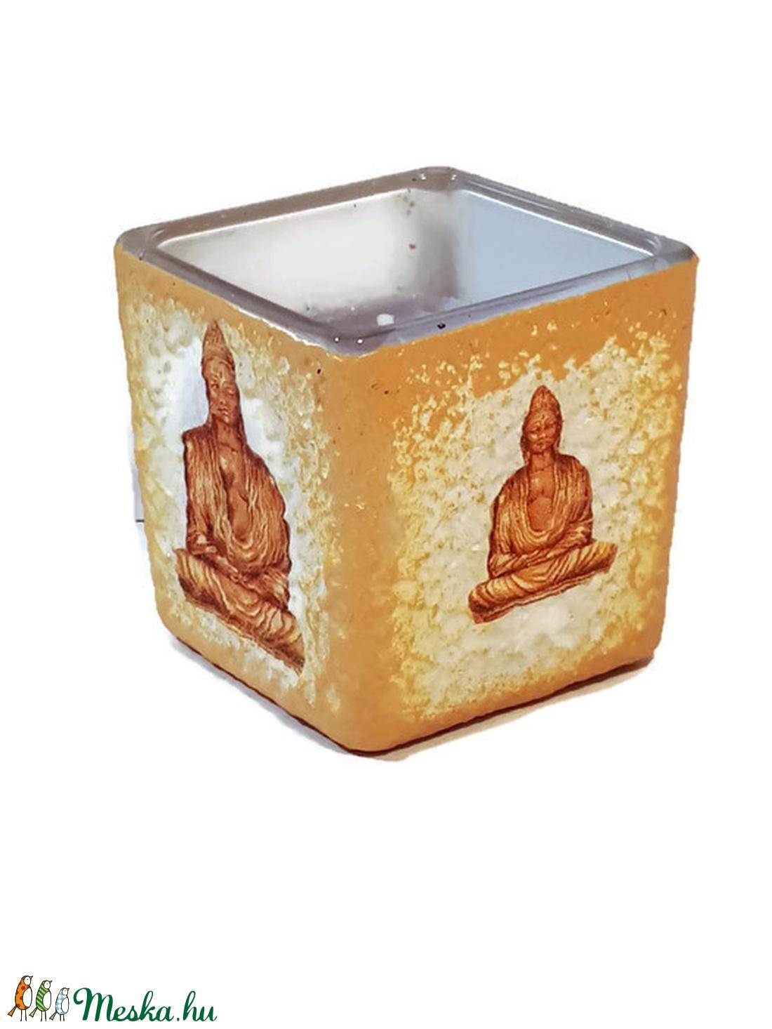 Arany Buddha gyertyatartó illatos gyertyával spirituális ajándék   (Biborvarazs) - Meska.hu