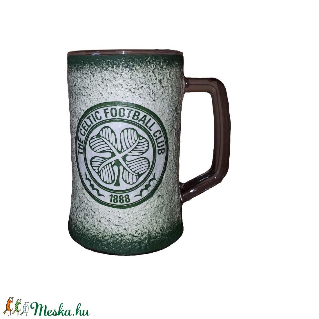 Kelta focicsapat sörös korsó  futball rajongói ajándék férfiaknak, férjeknek, barátoknak - otthon & lakás - konyhafelszerelés - pohár - Meska.hu