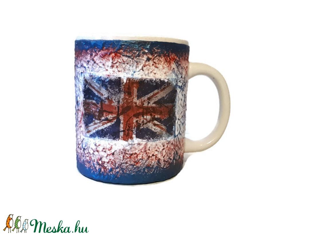 Brit zászló mintás London dísz-és használati bögre Angliába utazó v. Angliából hazaérkezőknek, angol tanároknak.  - otthon & lakás - konyhafelszerelés - bögre & csésze - Meska.hu