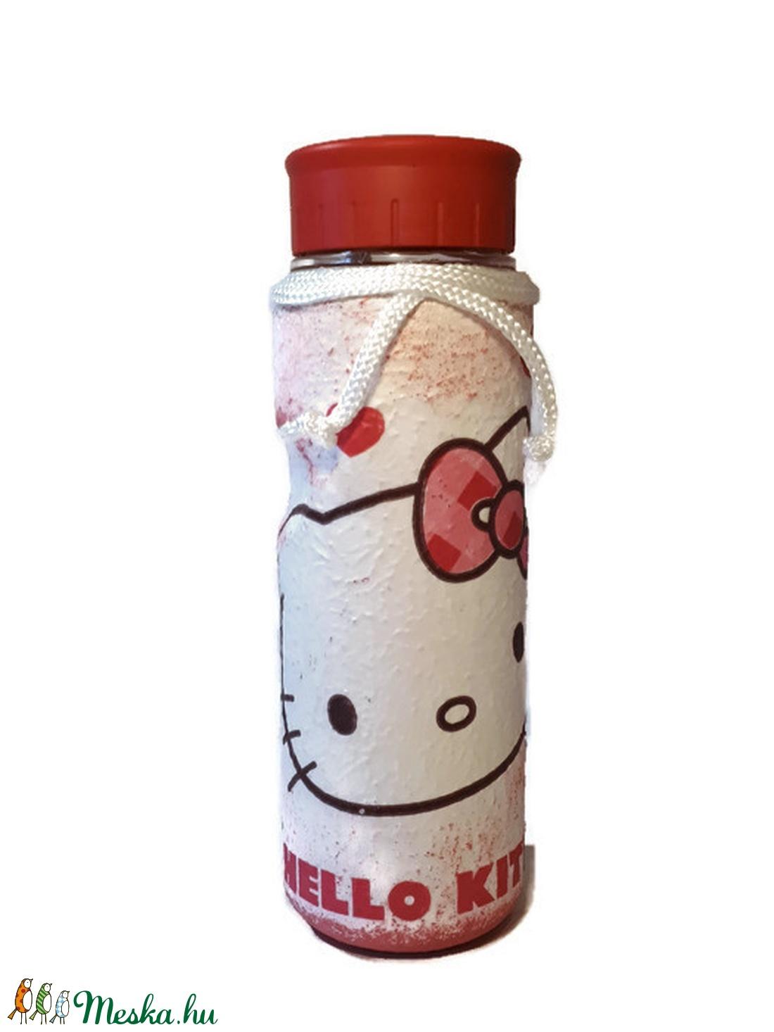 Hello kitty  kulacs, palack ajándék gyermeknapra, szülinapra, névnapra, mikulásra, karácsonyra. - Meska.hu