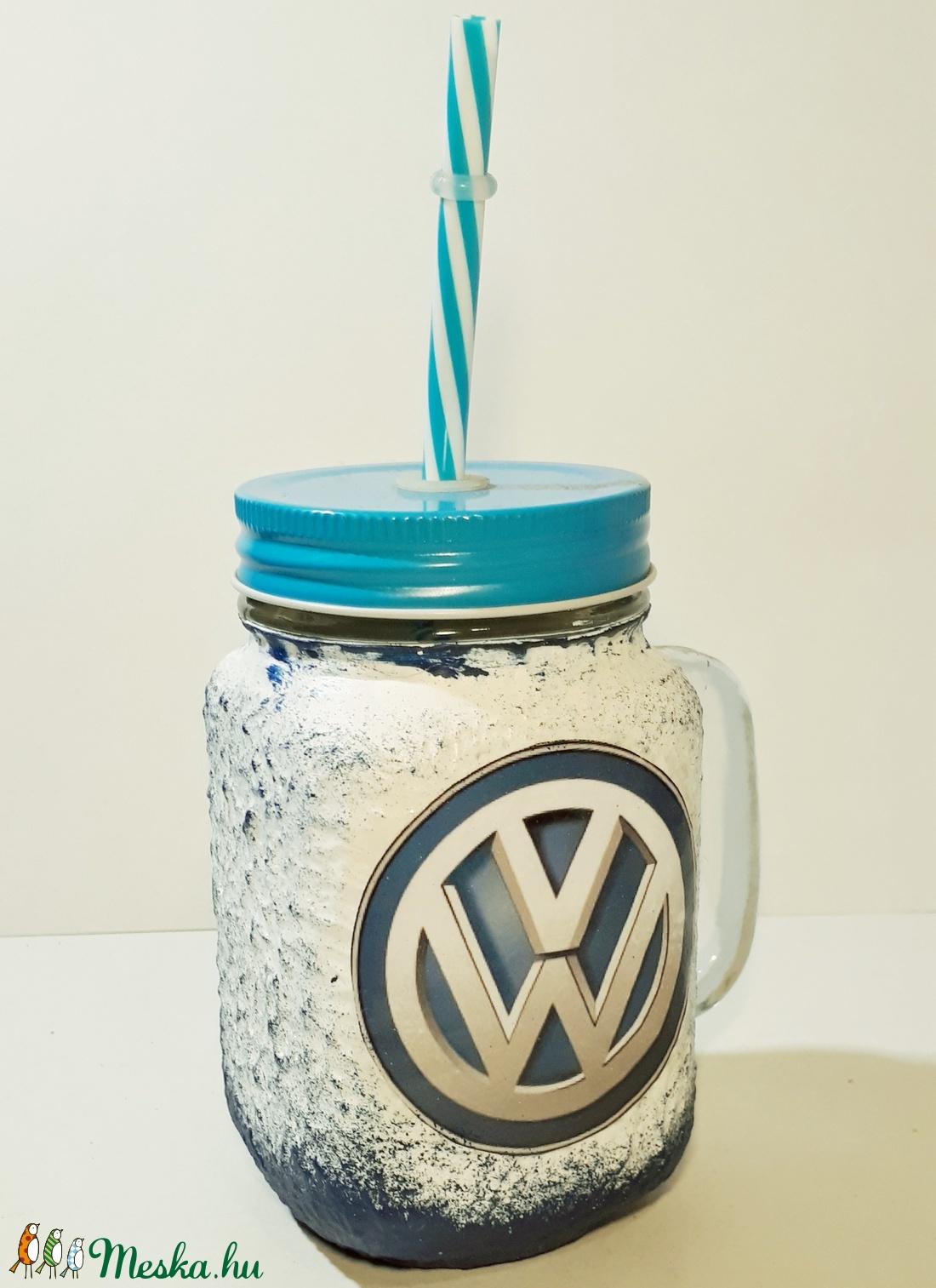 Volkswagen szívószálas üveg, bögre, korsó 3 in 1 (Biborvarazs) - Meska.hu