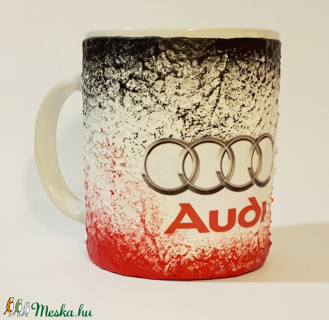 Audi füles kerámia pohár, bögre audi rajongói ajándék  (Biborvarazs) - Meska.hu
