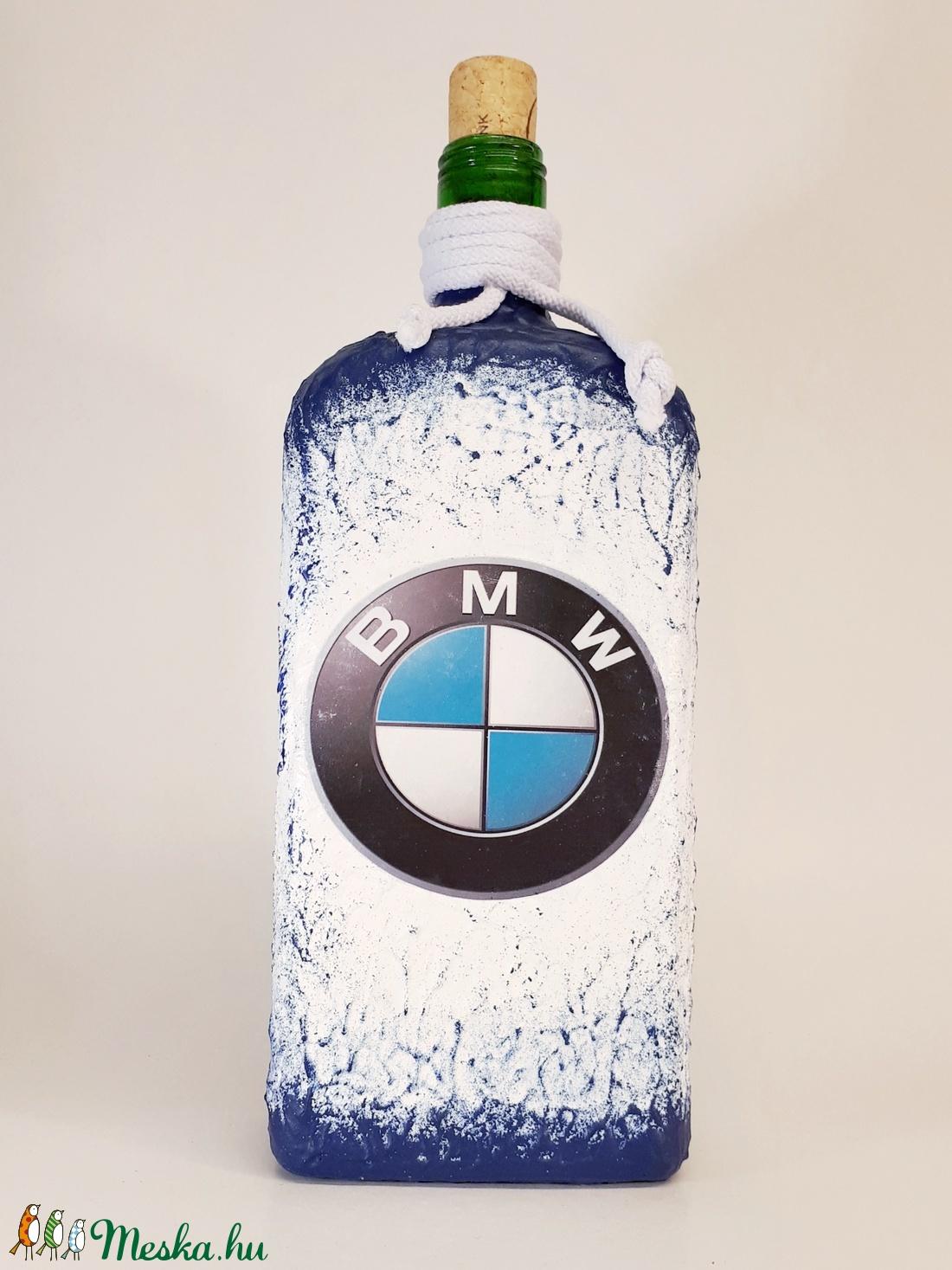 Bmw rajongói ajándék - italos dísz- és használati lapos üveg  (Biborvarazs) - Meska.hu