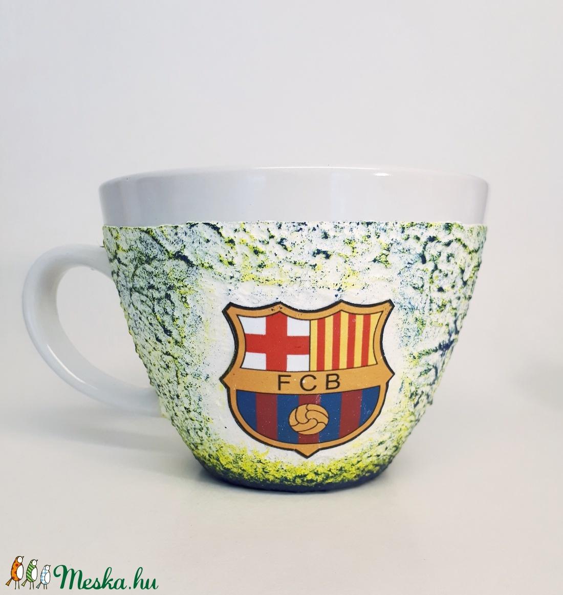 Fc Barcelona kerámia bögre, foci rajongói ajándék névnapra, szülinapra, karácsonyra.  (Biborvarazs) - Meska.hu