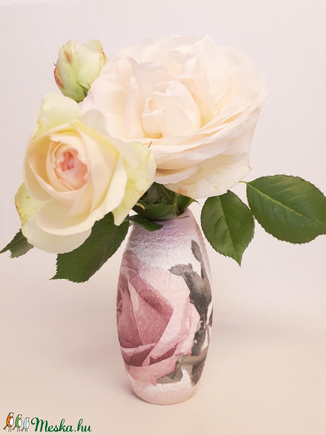 Rózsa kerámia váza rózsa kedvelőknek szülinapra, névnapra, anyák napjára, nőnapra, házavatóra (Biborvarazs) - Meska.hu