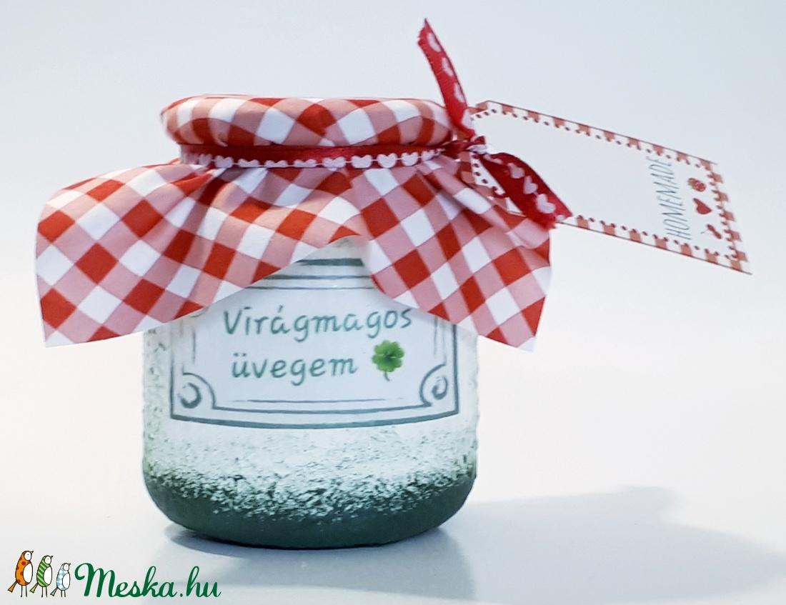 Virágmagos üvegem, különleges ajándék szülinapra, névnapra, karácsonyra, miklulásra. (Biborvarazs) - Meska.hu