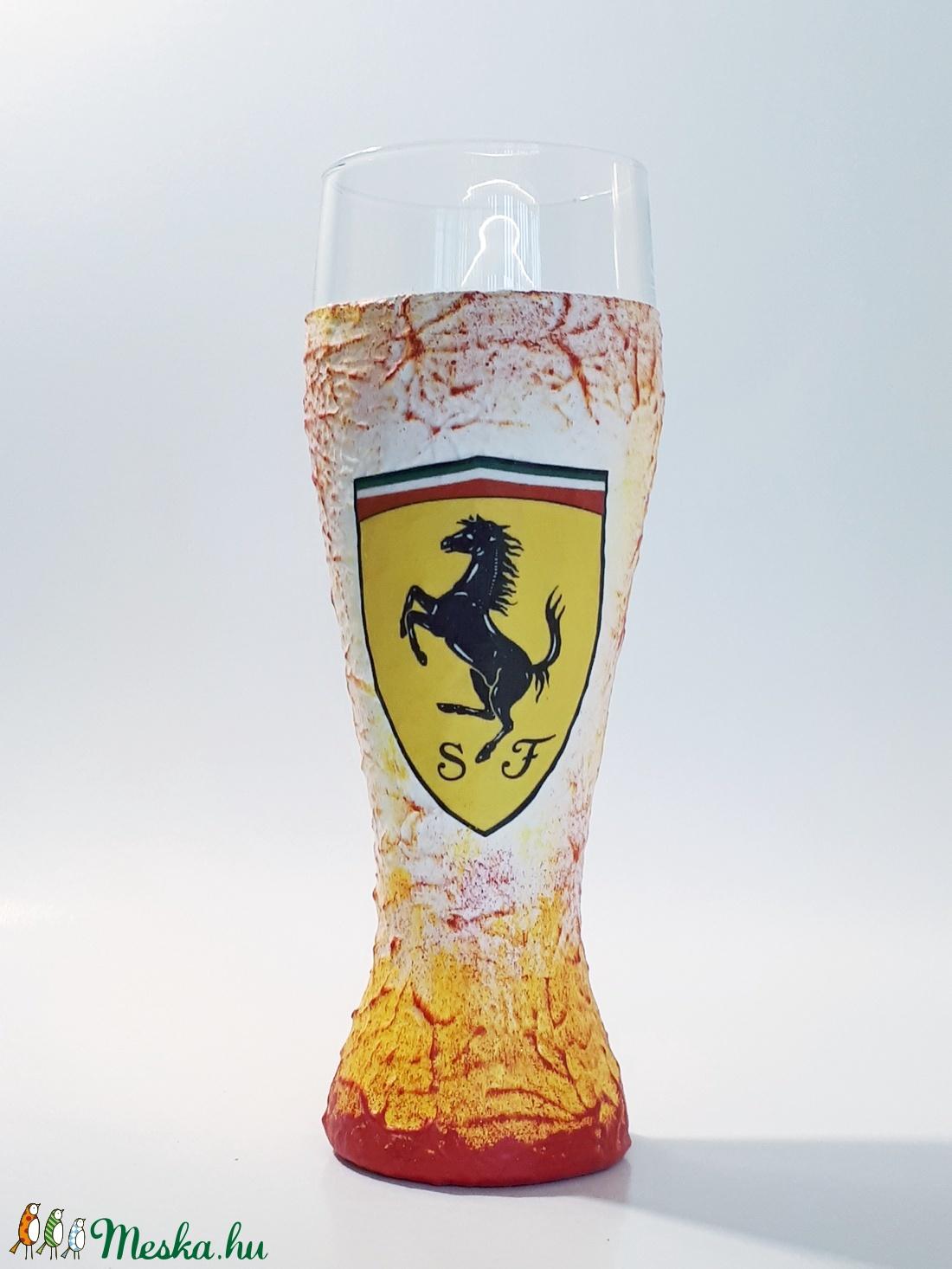 Ferrari autó rajongói sörös pohár 500 ml  (Biborvarazs) - Meska.hu