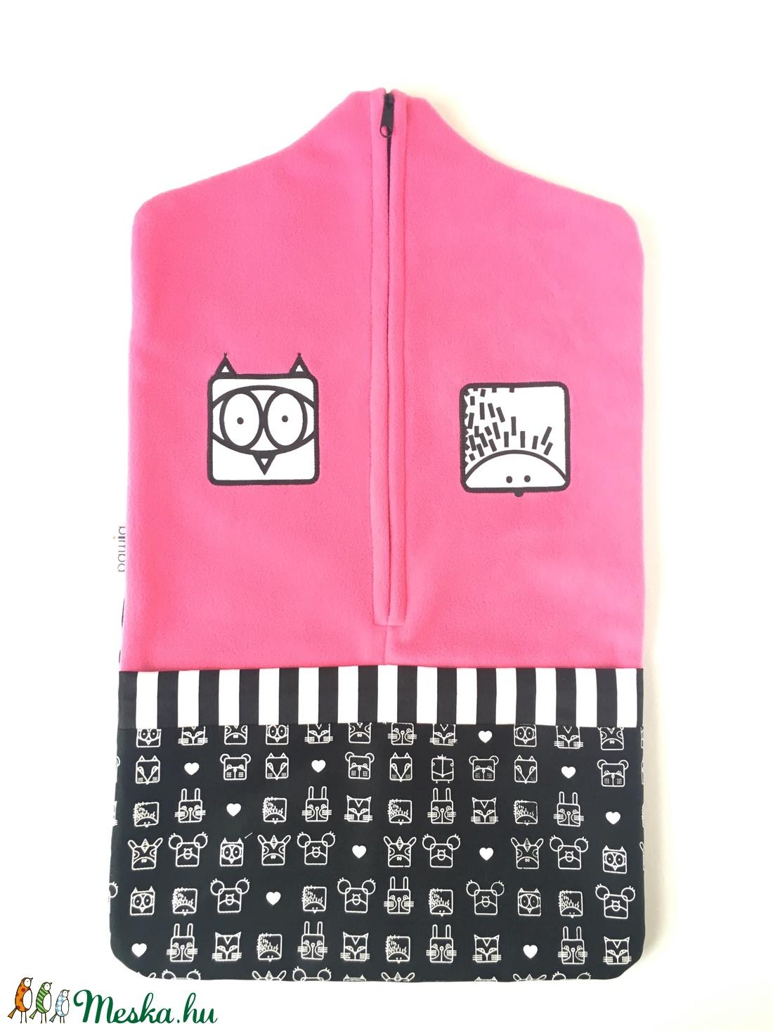 Ovis zsák, süni-bagoly duó, pink (bimbadesign) - Meska.hu