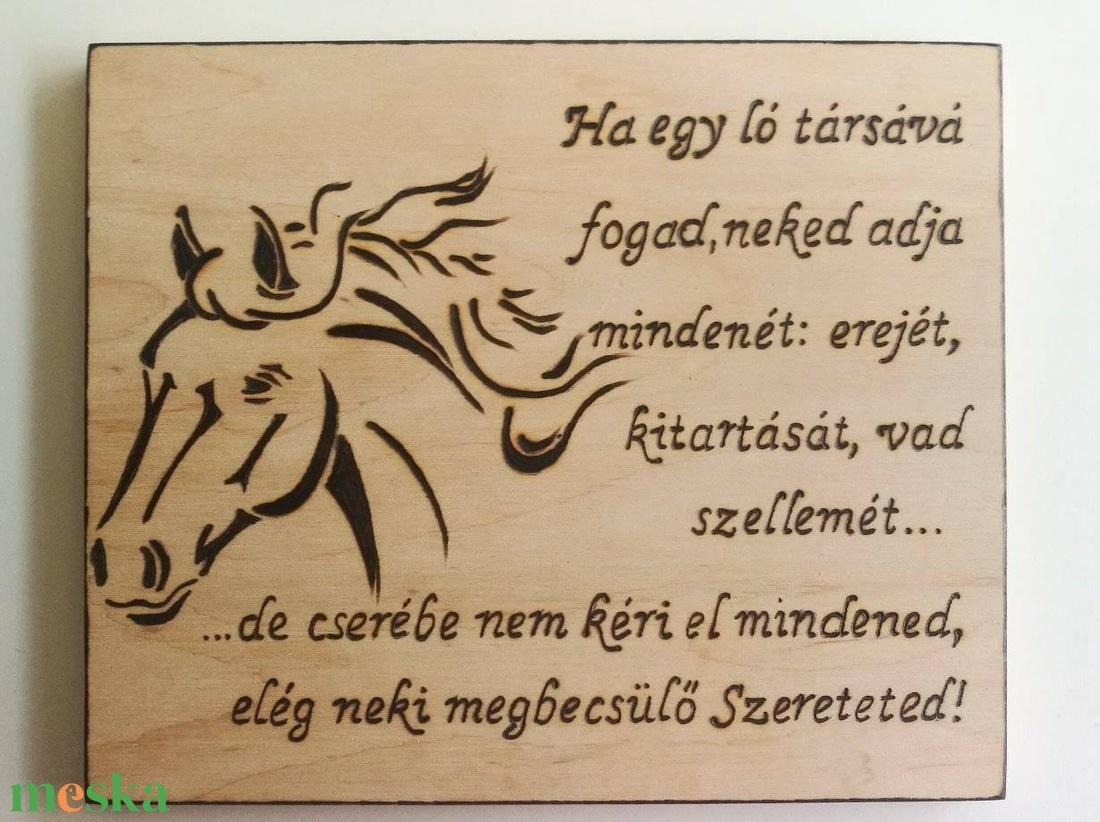 Dekoratív lovas  tábla - otthon & lakás - dekoráció - felirat - Meska.hu