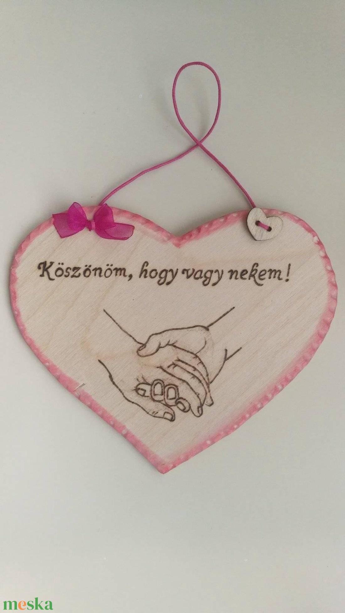 Szív alakú táblácska - otthon & lakás - dekoráció - függődísz - Meska.hu