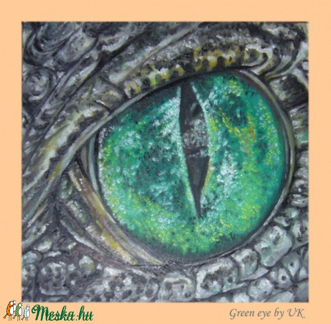 Zöld szem (blueklarion) - Meska.hu