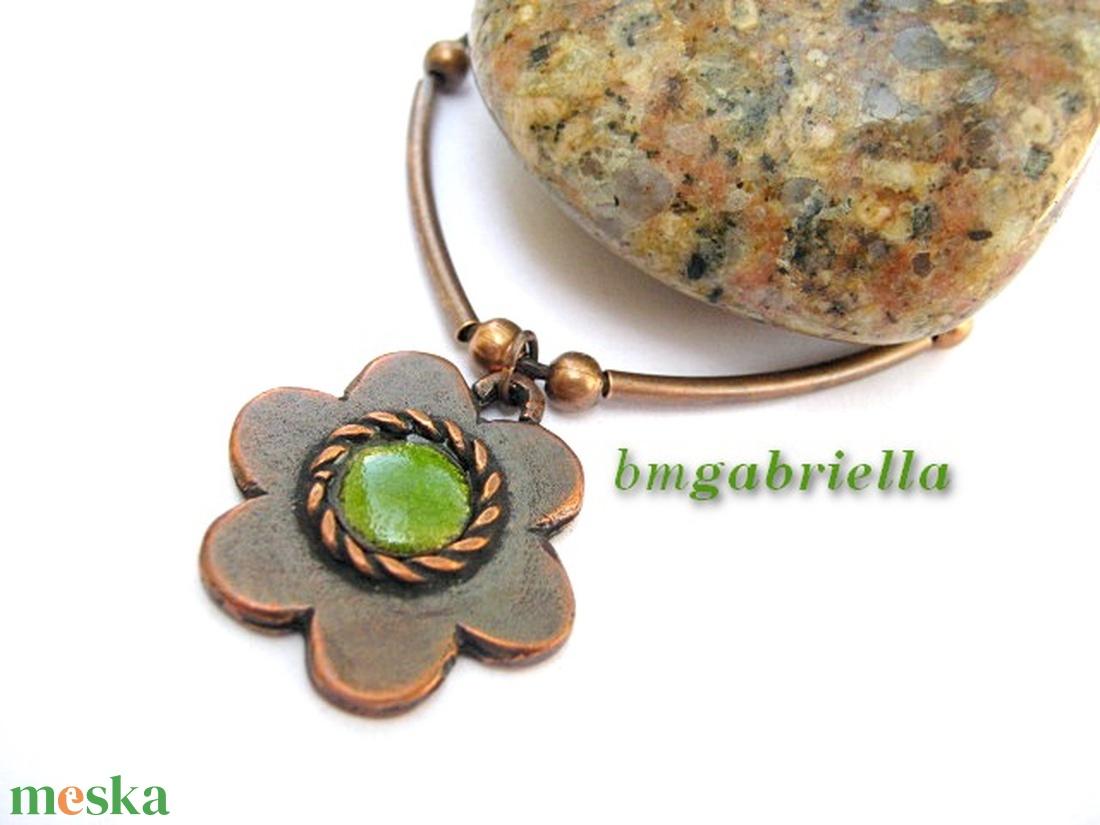 Friss alandor - egyedi tervezésű virág medál, nyaklánc - ékszer - nyaklánc - medálos nyaklánc - Meska.hu