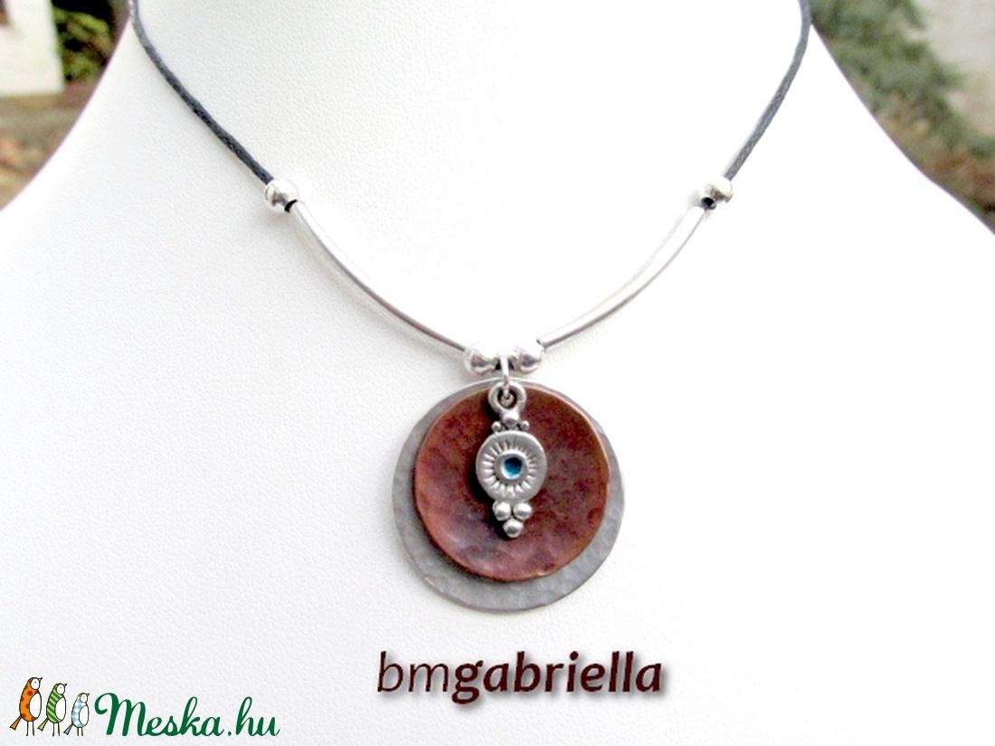 Ninszun nyakéke - vörösréz és ezüstözött medál - egyedi tervezésű kézműves ékszer - ékszer - nyaklánc - medálos nyaklánc - Meska.hu