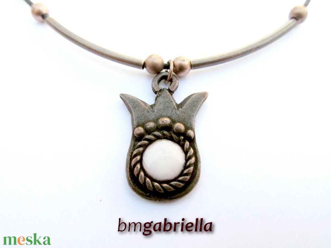 Tulipán - egyedi tervezésű kézműves nyaklánc - tűzzománc ékszer - ékszer - nyaklánc - medálos nyaklánc - Meska.hu