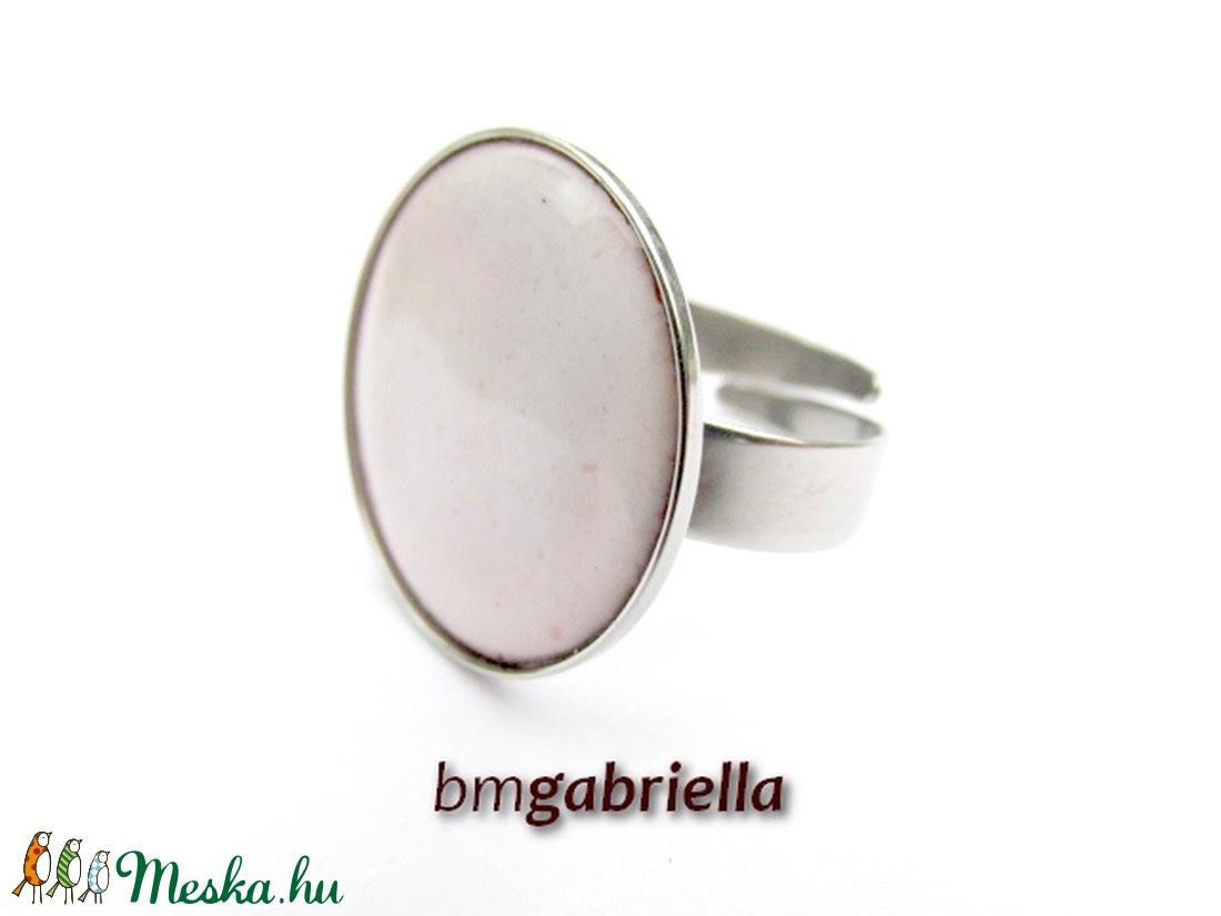 Tűzzománc gyűrű - egyedi tervezésű nemesacél kézműves gyűrű - állítható, modern gyűrű - orvosi fém - ékszer - gyűrű - kerek gyűrű - Meska.hu