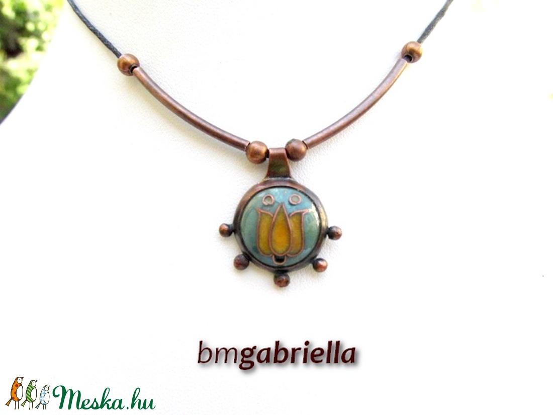 Tulipán - egyedi tervezésű kézműves nyaklánc - magyar népi motívum - ékszer - nyaklánc - medálos nyaklánc - Meska.hu