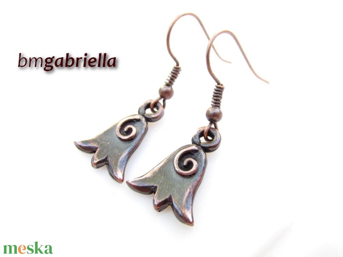 Leányka-tulipán - egyedi tervezésű kézműves fülbevaló  - ékszer - fülbevaló - lógó fülbevaló - Meska.hu
