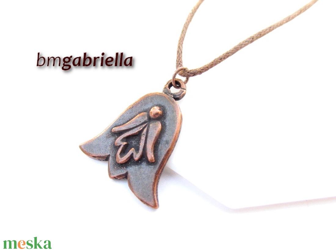 Angyalos tulipán - kézműves medál, nyaklánc -  egyedi tervezésű kézműves ékszer - angyal medál - ékszer - nyaklánc - medálos nyaklánc - Meska.hu