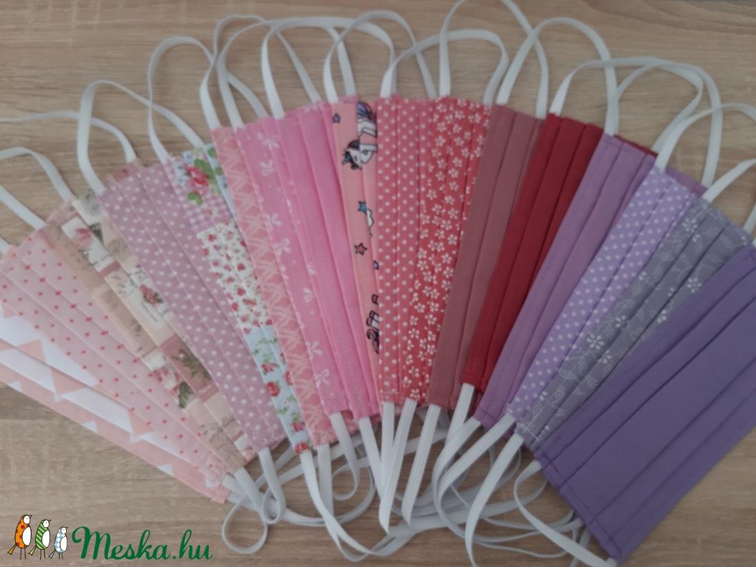 Drótos textil arcmaszk hölgyeknek - rózsaszínes lila árnyalat - maszk, arcmaszk - női - Meska.hu