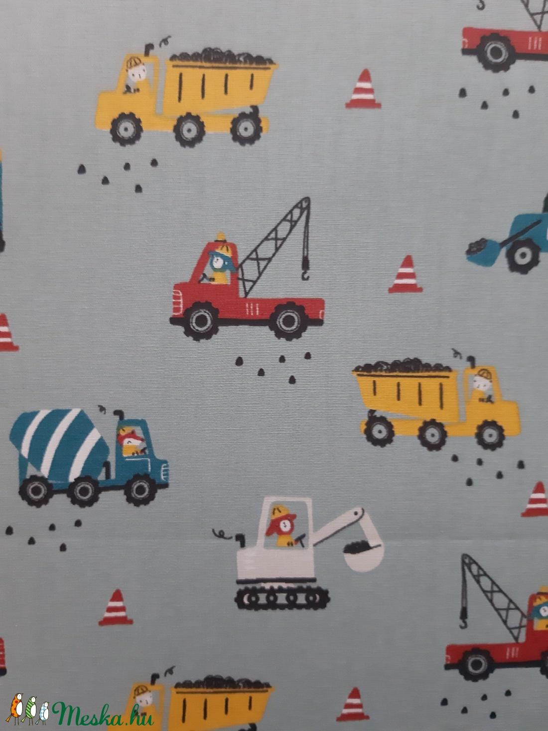 Gyermek textil maszk - kék, munkagépes - maszk, arcmaszk - gyerek - Meska.hu