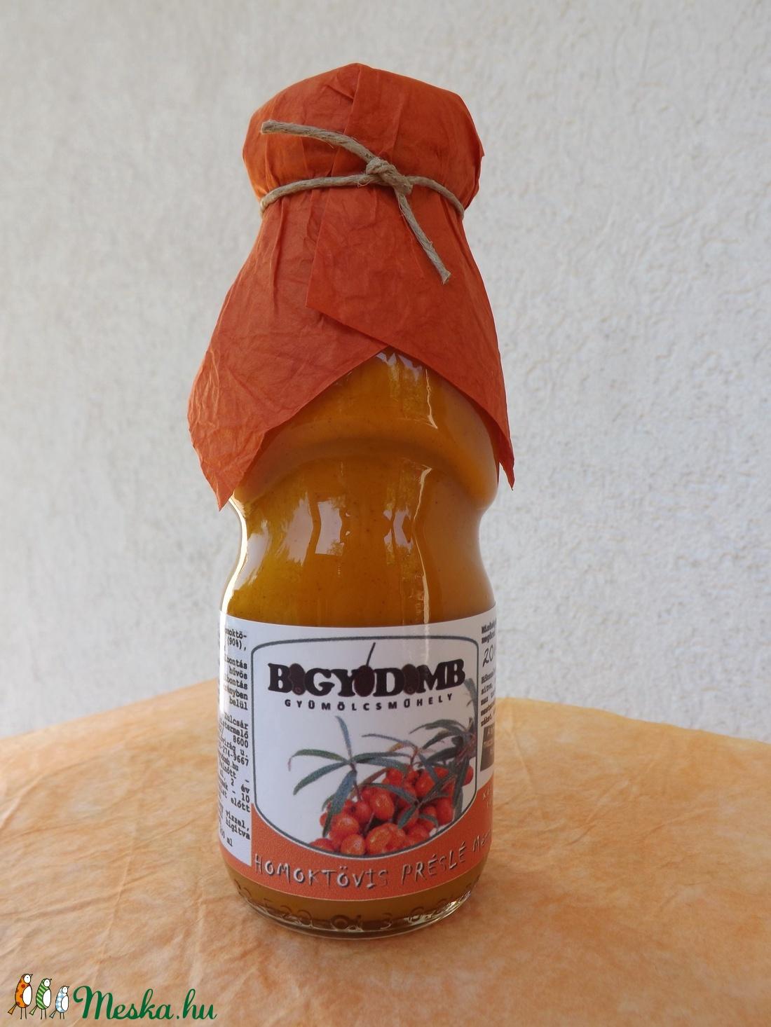 Homoktövis préslé mézzel (200 ml) (Bogyodomb) - Meska.hu