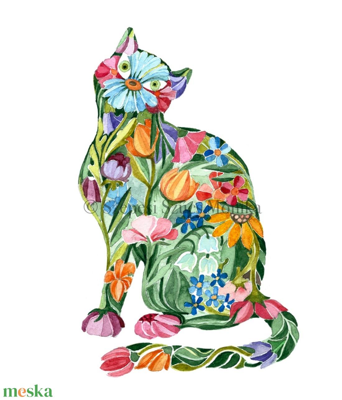 Cica - Print (Akvarell) - Meska.hu