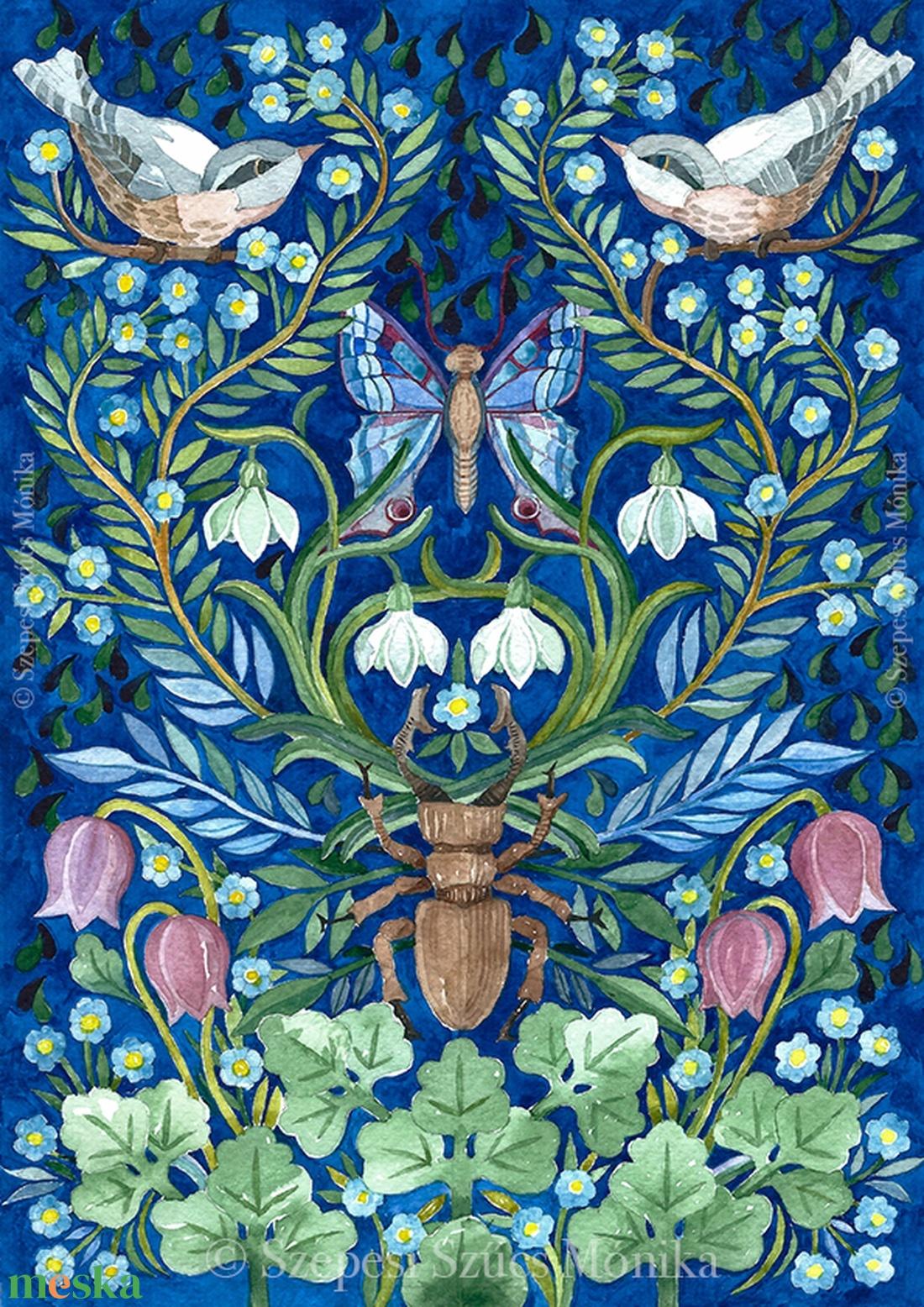 Kincsek a kertben - Print (Akvarell) - Meska.hu