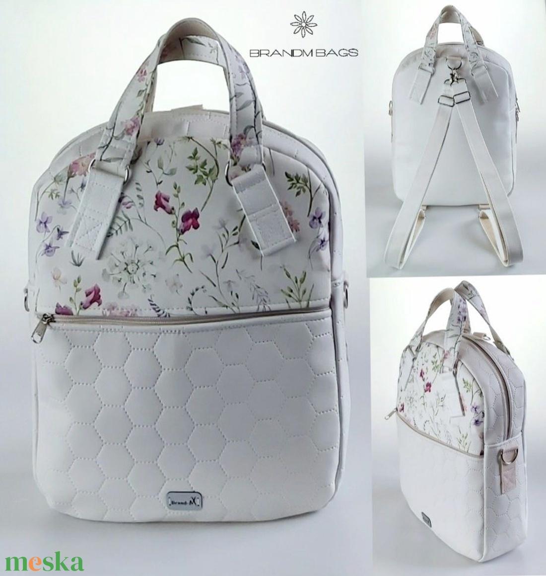 Különleges tátika virágos �RITA  4 az 1-ben  női táska/hátizsák - táska & tok - variálható táska - Meska.hu