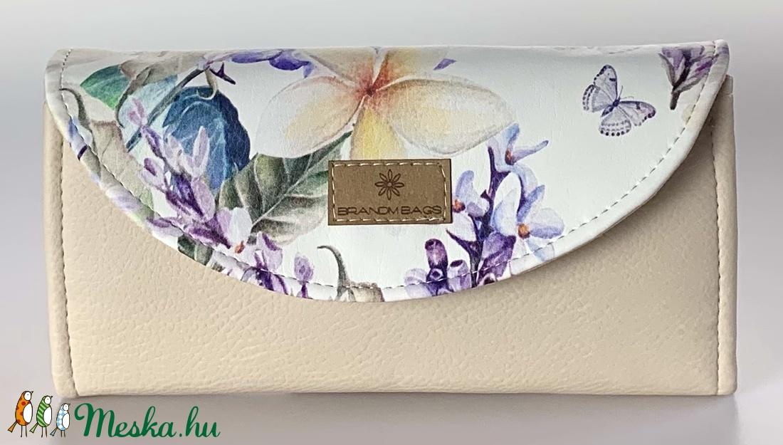 Liliomos designer műbőr kártyatartós �KRISZTI pénztárca - táska & tok - pénztárca & más tok - pénztárca - Meska.hu