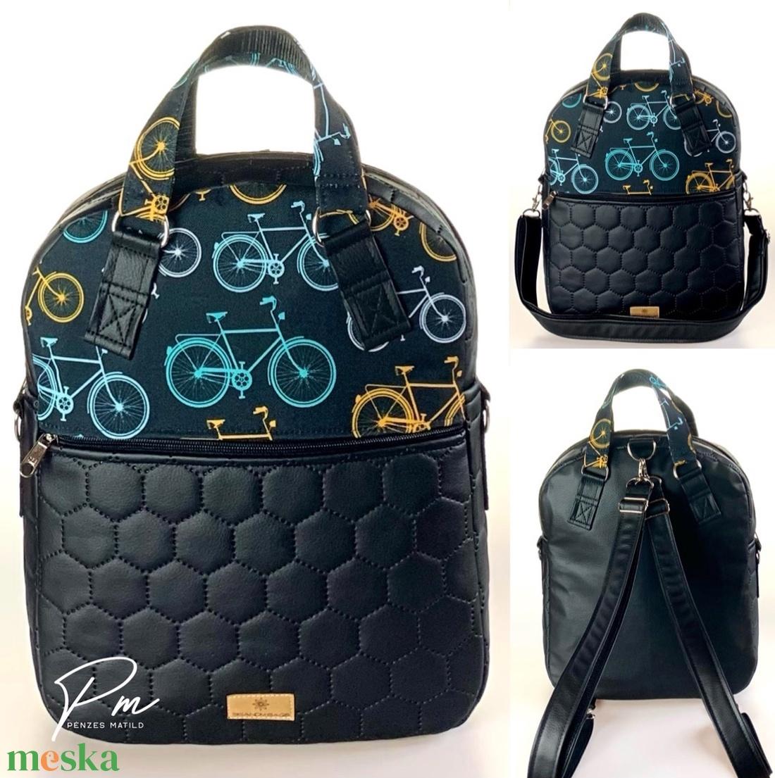 Biciklis �RITA 4 az 1-ben cipzáras női táska/hátizsák - táska & tok - variálható táska - Meska.hu