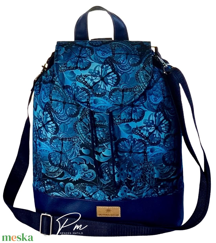 Pillangós vízálló �ANDI többfunkciós női táska/hátizsák zárófedéllel - táska & tok - variálható táska - Meska.hu