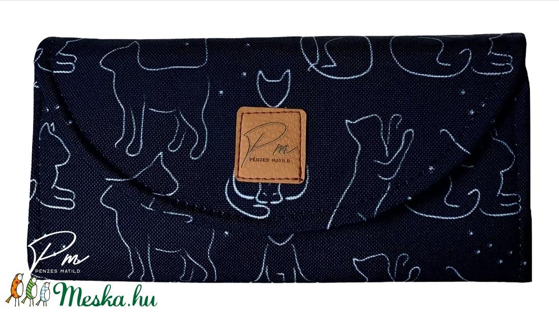 Fekete macskás  vízálló �KRISZTI kártyatartós női pénztárca - táska & tok - pénztárca & más tok - pénztárca - Meska.hu