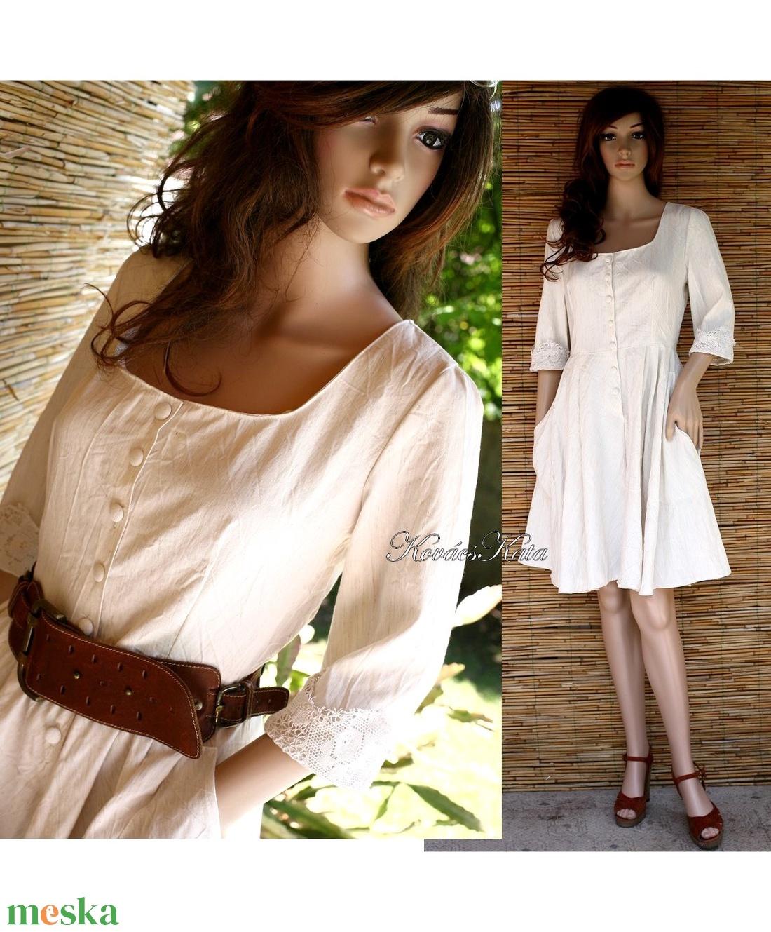 COLLEGE - lenvászon ruha  - ruha & divat - női ruha - ruha - Meska.hu