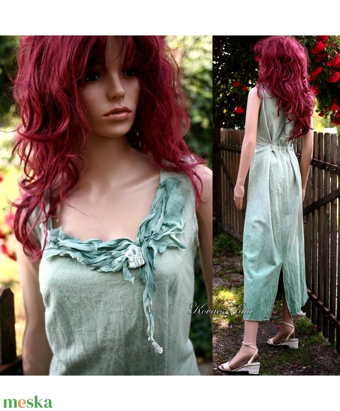 AKVARELLA - artsy design-ruha / zöld - ruha & divat - női ruha - ruha - Meska.hu